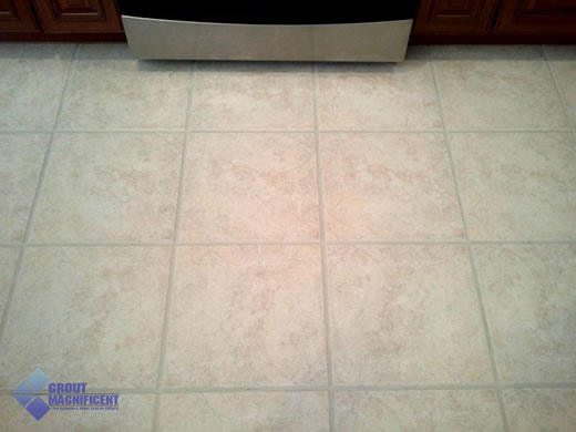 After Color Sealing Grout