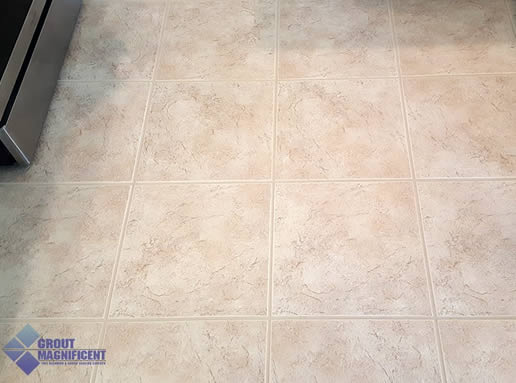 after cleaning tile and grout