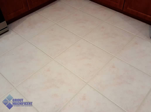 after cleaning tile