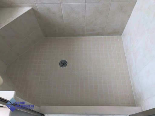 After Regrouting Shower Tile