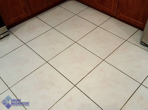 before cleaning tile