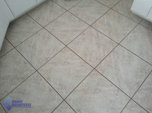 dirty tile and grout