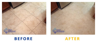 Before After cleaning tile