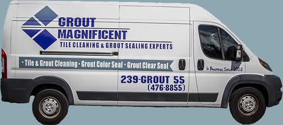 grout cleaning truck