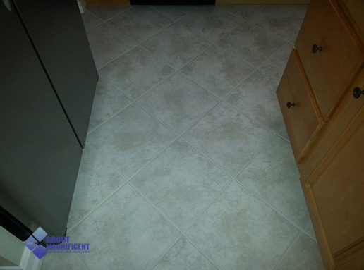 Tile needing cleaning